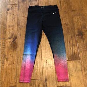 Nike ombré rainbow tight sz M
